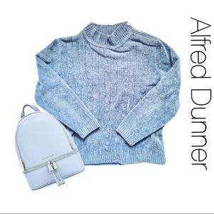 Alfred Dunner Chenille Cable Knit Sweater